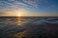 Sunrise at the Wadden Sea