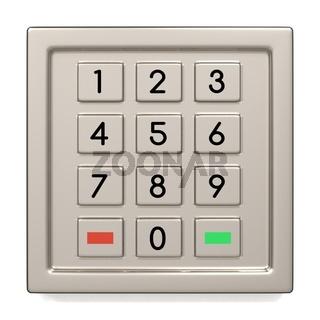 Atm machine keypad.
