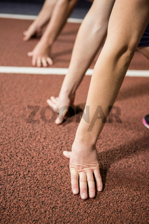 Run in ready position
