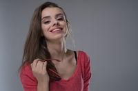 happy pretty student
