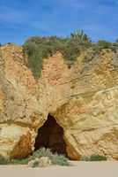 Rock, cave and sky in praia da Rocha, Algarve