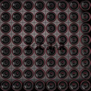 Lautsprecher Wand - Schwarz Rot