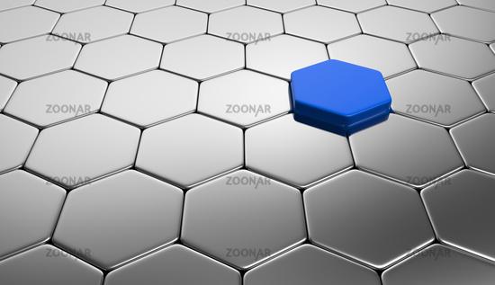 Blau Silber Baustein Konzept