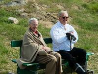 55 jähriges Kron Jubiläum Königin Margrethe II von Dänemark in Upernavik Grönland