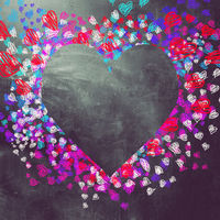 Love and hearts background