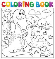 Coloring book dinosaur topic 8 - picture illustration.