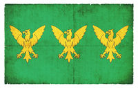 Grunge flag of Caernarfonshire (Wales)