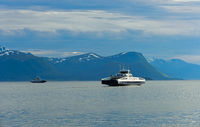 ferries on the Moldefjord near Molde Norway