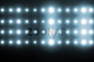Digitally generated image of blue spotlight