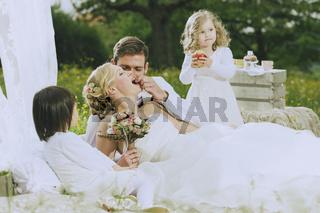 Garden Wedding Flower Children
