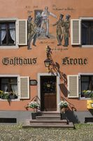 Facade painting at a traditional inn in the center of Staufen