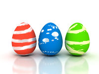 Easter Eggs on white - Stock image
