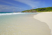 Traumstrand Grand Anse , Insel La Digue, Seychellen