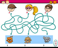 maze puzzle task for children