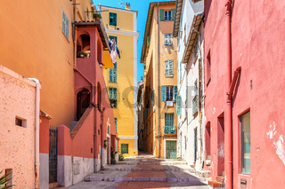 Colorful houses of Menton, France.