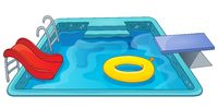 Pool theme image 1 - picture illustration.