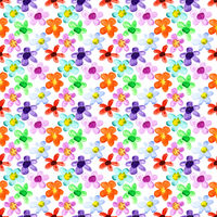 Flowers of different colors seamless