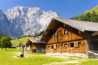 Panorama vom Großer Ahornboden in den Alpen
