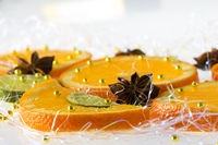 Orange and lemon slice