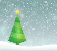 Stylized Christmas tree topic image 7 - picture illustration.