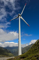 Die höchst gelegene Windturbine Europas am Griessee
