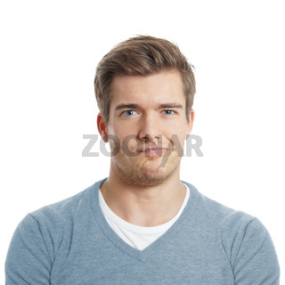 young man making a face