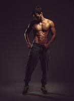 Athletic handsome man