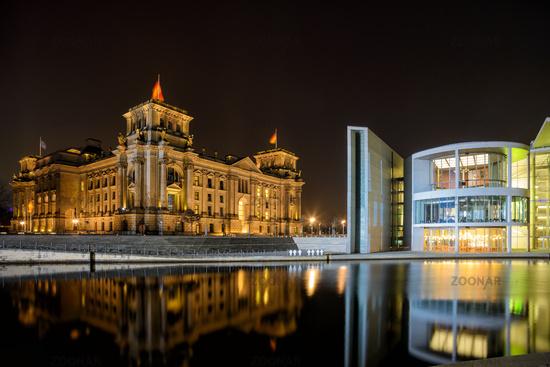 Spreebogen with Reichstag in Berlin