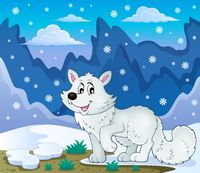 Polar fox theme image 2 - picture illustration.