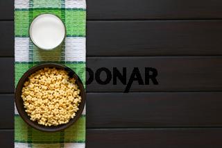 Honey Flavored Breakfast Cereal and Milk