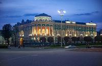 Night shot of House of Sevastyanov, Ekaterinburg