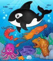 Ocean fauna topic image 8 - picture illustration.