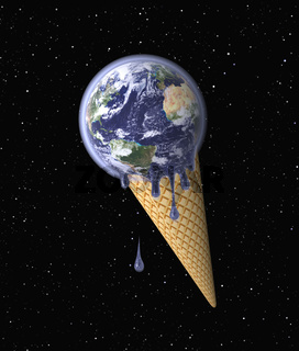 Ice Cream (Earth on Waffle Cone)