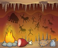 Prehistoric cave thematic image 1 - picture illustration.