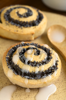 Poppy Seed Roll with Icing