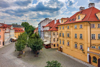 Colorful houses in Prague.
