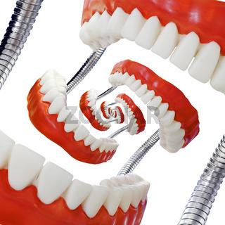 Droste Denture Model Cutout
