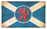 Grunge flag of Isle of Skye (Scotland)