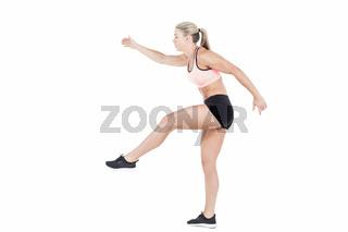 Female athlete jumping