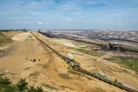 Belt systems for overburden and coal in a lignite mine