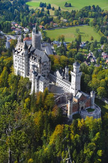 famous castle Neuschwanstein in Bavaria, Germany