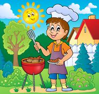 Barbeque theme image 2 - picture illustration.