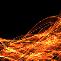 Digital abstract fire background