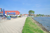 Promenade of Rerik at Baltic Sea,Mecklenburg western Pomerania,Germany