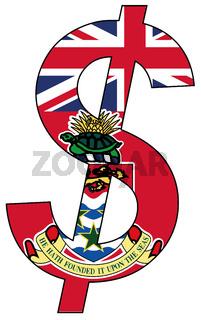 dollar - flag of cayman islands