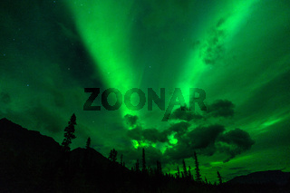 Wrangell Mountains Northern Lights Aurora Borealis Alaska Night Sky