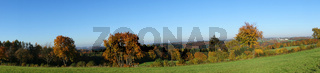 sauerland, oberbergisches land im herbst, panorama