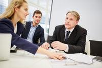Business Team mit Manager und Anwalt