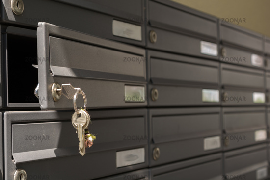Mailboxes in apartment investment