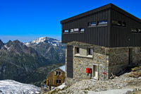Die modernisierte Schutzhütte Refuge Albert 1er des Club Alpin Français (CAF)
